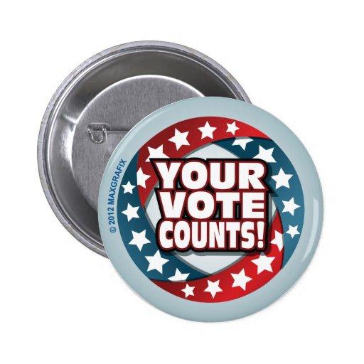 ¡Sus cuentas del voto!! Pin Redondo 5 Cm