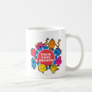 ¡Sus cuentas del voto! Taza De Café