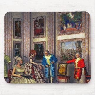 Sus fotos en una galería de arte histórica tapete de ratones