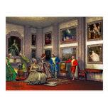 Sus fotos en una galería de arte histórica tarjetas postales