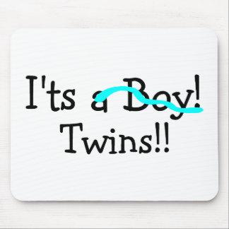 Sus gemelos muchachos alfombrilla de ratón