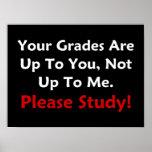 Sus grados incumben a usted. ¡Estudie por favor! ( Posters
