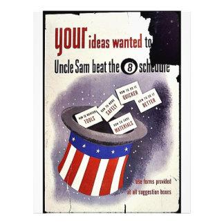 """Sus ideas quisieron al golpe del tío Sam el Folleto 8.5"""" X 11"""""""