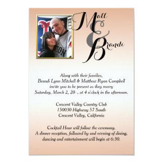 Sus invitaciones del boda de la foto invitaciones personalizada