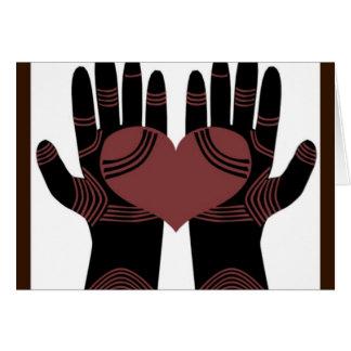 Sus manos son tarjeta de felicitación curativa de