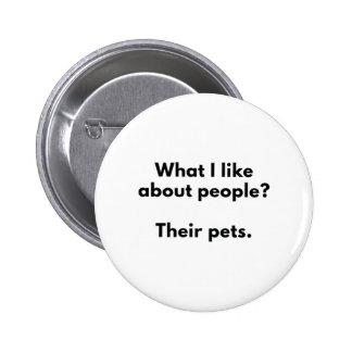 Sus mascotas pin redondo de 2 pulgadas