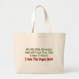 Sus mis vigésimos regalos de cumpleaños bolsa tela grande