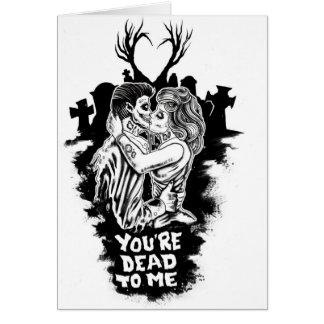sus muertos a mí tarjeta del zombi del amor románt