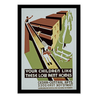 Sus niños tienen gusto de estos hogares de póster