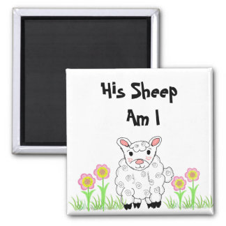 Sus ovejas son yo imán de frigorífico