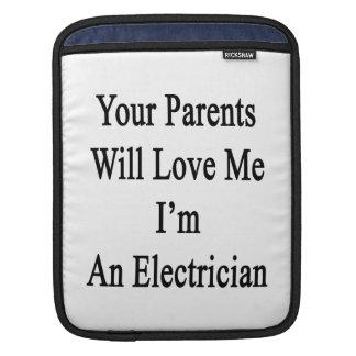 Sus padres me amarán que soy electricista mangas de iPad