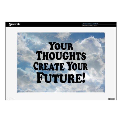 Sus pensamientos crean su futuro - Multi-Productos Calcomanía Para Portátil