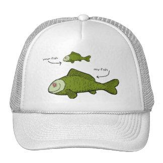 Sus pescados Mis pescados ¡Materias del tamaño Gorra