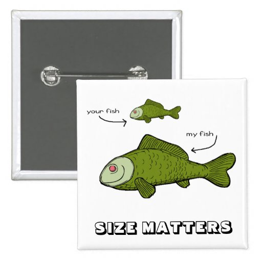 Sus pescados. Mis pescados. ¡Materias del tamaño?! Pins
