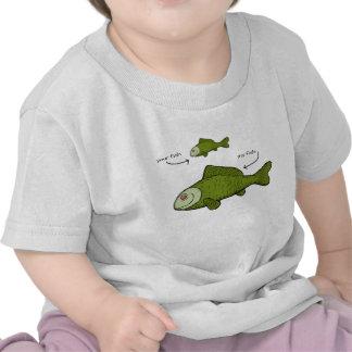 Sus pescados. Mis pescados. ¡Materias del tamaño?! Camisetas
