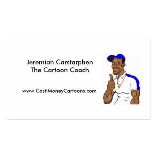 Sus tarjetas de visita del dibujo animado en línea