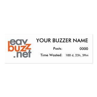 Sus tarjetas del perfil del zumbador tarjetas de visita mini