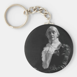 Susan B. Anthony Basic Round Button Keychain