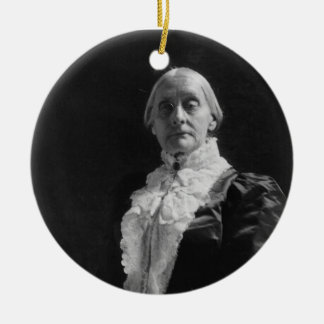 Susan B. Anthony Double-Sided Ceramic Round Christmas Ornament