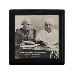 Susan B. Anthony Elizabeth Cady Stanton Quote Gift Box