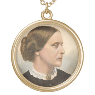 Susan B. Anthony Gold Plated Necklace