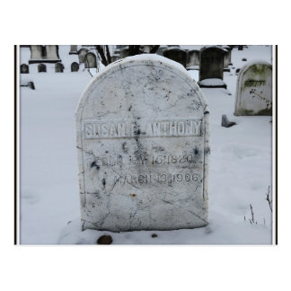 Susan B. Anthony Grave Headstone Postcard