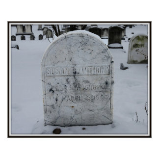Susan B. Anthony Grave Headstone Poster