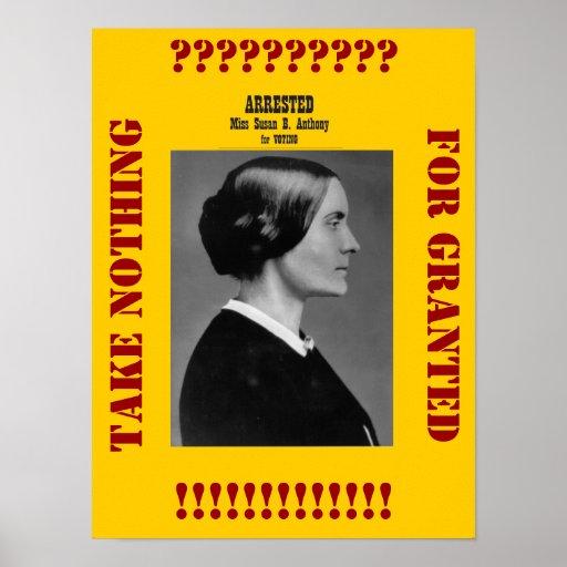 Susan B Anthony nos recuerda Posters