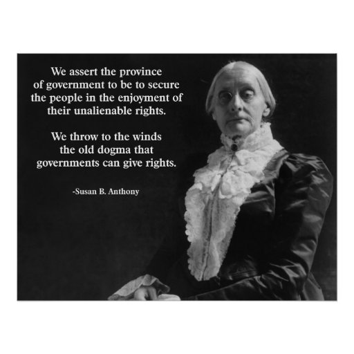 Susan B. Anthony Quote Posters