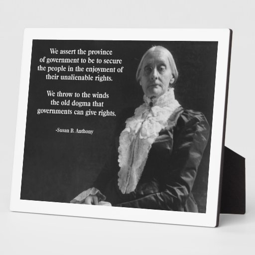 Susan B. Anthony Quote Placas Con Foto