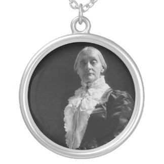 Susan B. Anthony Round Pendant Necklace