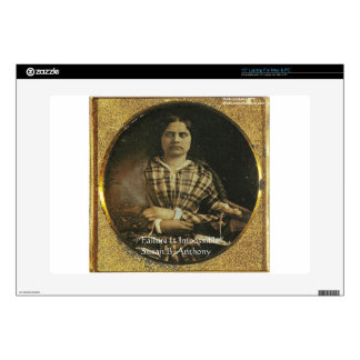"""Susan B Anthony Wisdom Quote Gifts & Cards 15"""" Laptop Decal"""