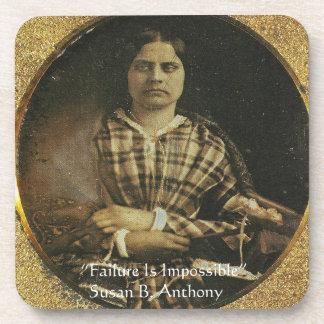 Susan B Anthony Wisdom Quote Gifts & Cards Beverage Coaster
