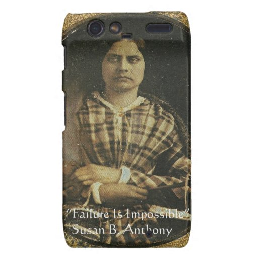 Susan B Anthony Wisdom Quote Gifts & Cards Motorola Droid RAZR Cover