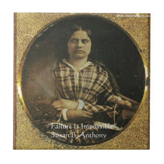 Susan B Anthony Wisdom Quote Gifts & Cards Ceramic Tile