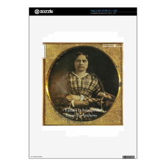 Susan B Anthony Wisdom Quote Gifts & Cards Decals For iPad 2