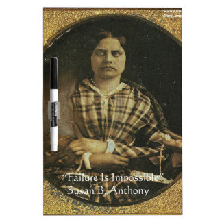 Susan B Anthony Wisdom Quote Gifts & Cards Dry Erase Board