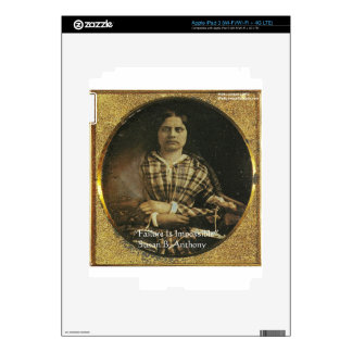 Susan B Anthony Wisdom Quote Gifts & Cards iPad 3 Skins