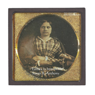 Susan B Anthony Wisdom Quote Gifts & Cards Jewelry Box