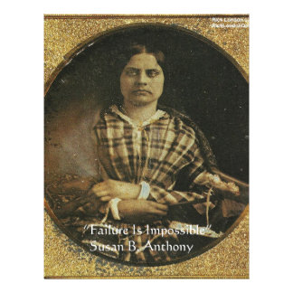 Susan B Anthony Wisdom Quote Gifts & Cards Custom Letterhead