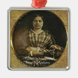 Susan B Anthony Wisdom Quote Gifts & Cards Metal Ornament