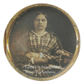 Susan B Anthony Wisdom Quote Gifts & Cards Plate