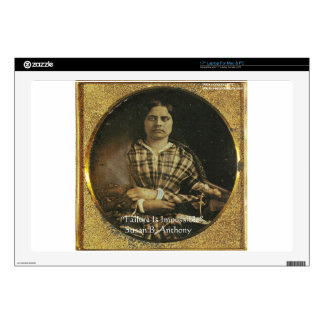 """Susan B Anthony Wisdom Quote Gifts & Cards Skins For 17"""" Laptops"""