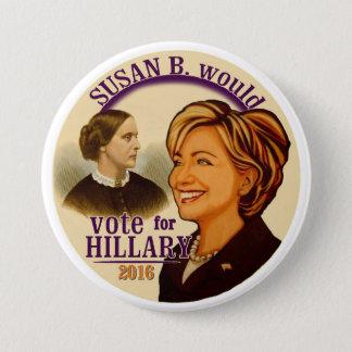 Susan B. for Hillary Pinback Button