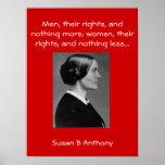 Susan B quotes Poster