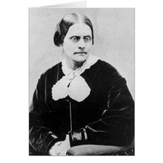 Susan Brownell Anthony c.1871 Tarjeta