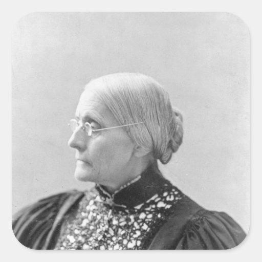 Susan Brownell Anthony c.1890-1906 Pegatina Cuadrada