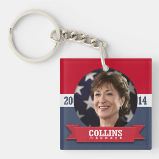 SUSAN COLLINS CAMPAIGN SQUARE ACRYLIC KEYCHAINS