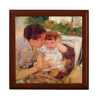 Susan Comforting the Baby by Mary Cassatt Jewelry Box
