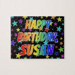 "[ Thumbnail: ""Susan"" First Name, Fun ""Happy Birthday"" Jigsaw Puzzle ]"